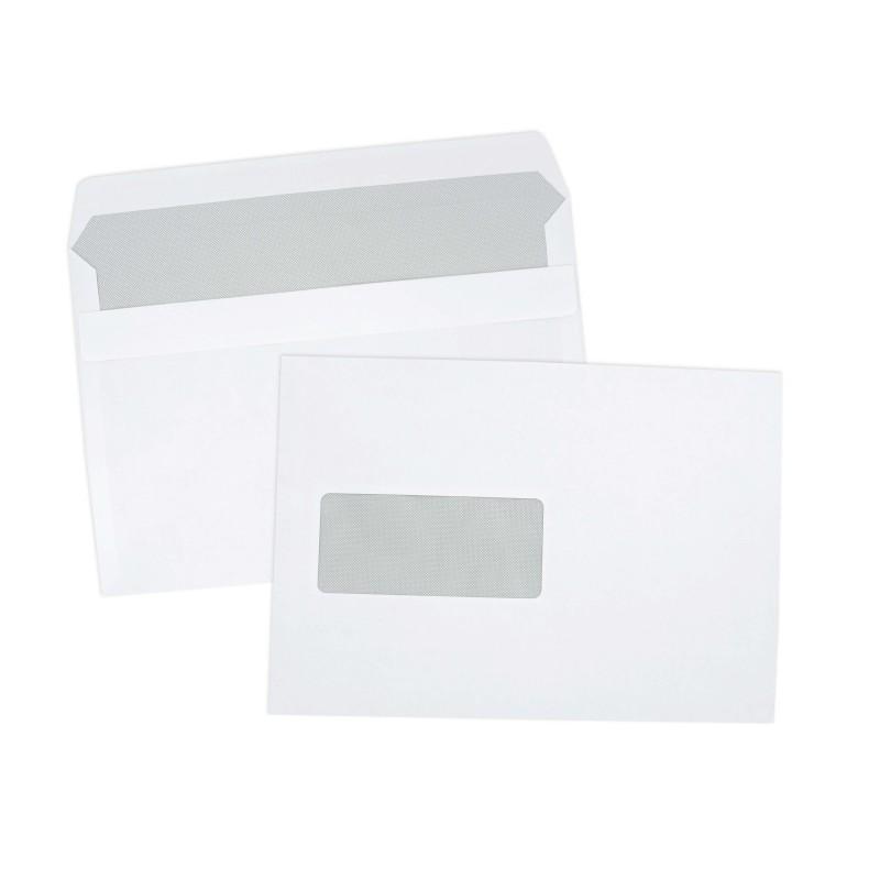 Enveloppe autoadh sive c5 162x229 avec fen tre 45x100 mm for Enveloppe c4 avec fenetre