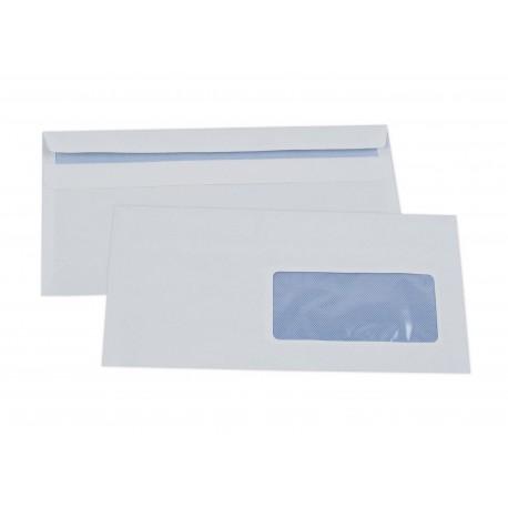 Enveloppes autoadhésives DL 110x220 avec fenêtre-boîte de 500