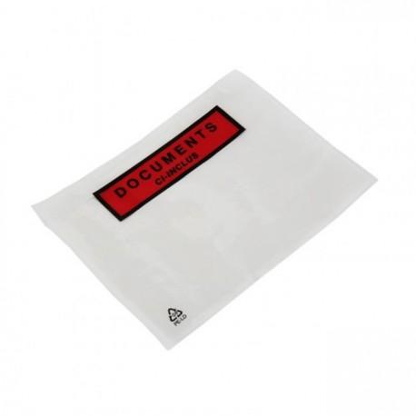"""Pochette Plastique """"document ci-inclus"""" 228x120"""