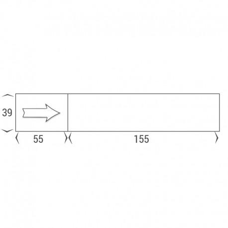 Etiquettes machines à affranchir 155x39 mm