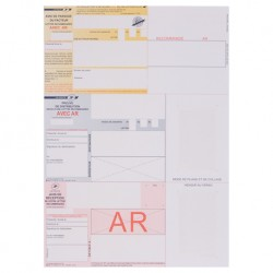 Recommandés A4 avec accusé de réception et sans Code Barre